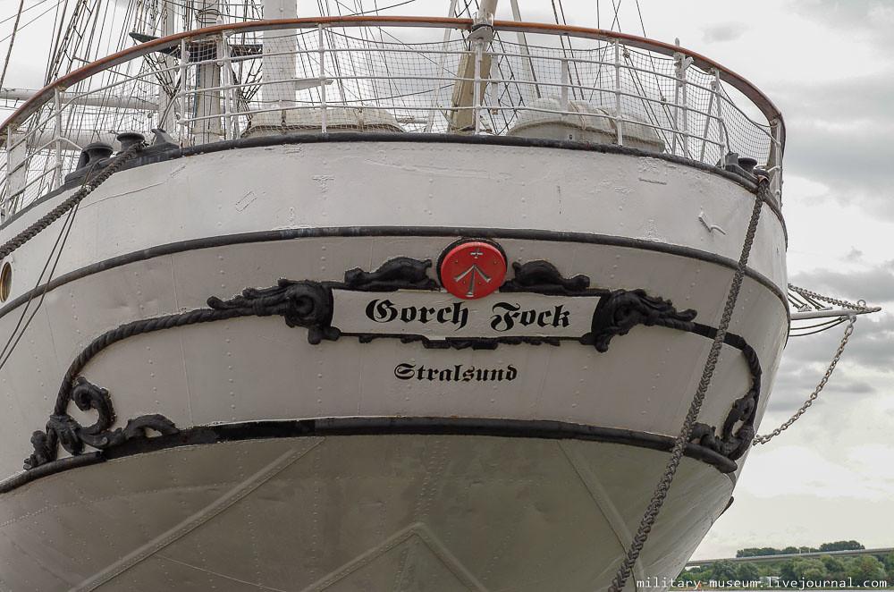 Парусник Gorch Fock в немецком Штральзунде-52