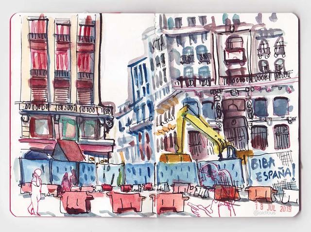 Obras en plaza de Canalejas
