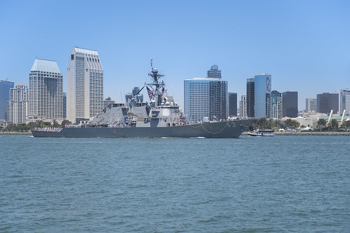 SAN DIEGO - The guided-missile destroyer USS Stethem (DDG 63) arrived at its new homeport, Naval Base San Diego, July 18, following 14 years of forward-deployed service in the Indo-Pacific region operating from Japan.