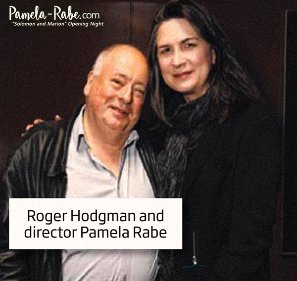 "Pamela Rabe & Roger Hodgman at the ""Solomon and Marion"" Opening Night 
