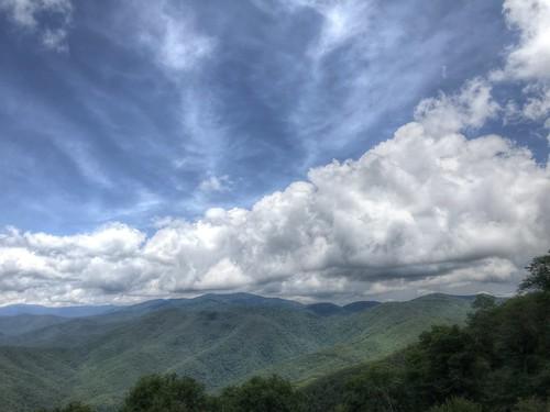 landscape sky clouds mountains nc northcarolina brp blueridgeparkway