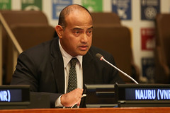 David Adeang, Minister for Finance and Sustainable Development, Nauru
