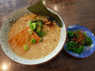 Classic Ramen and Seaweed Salad at Taro's Vegan Ramen
