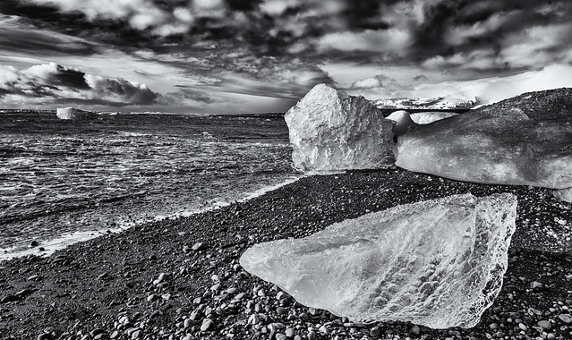 Beached on the ice beach