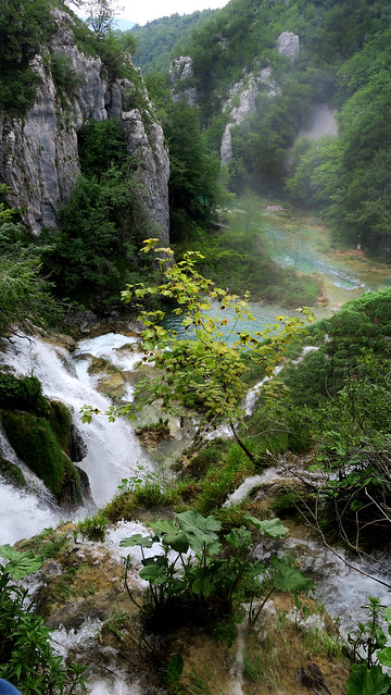 At the falls -- Plitvice Lakes National Park , Croatia