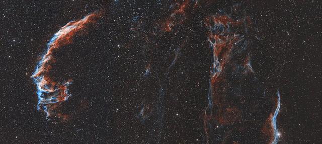 Veil Nebula Complex - 2 Panel Bicolour