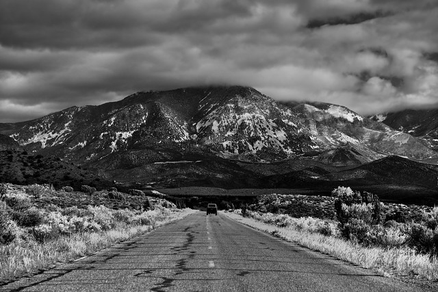 The Road Ahead or The Road Behind (Black & White)