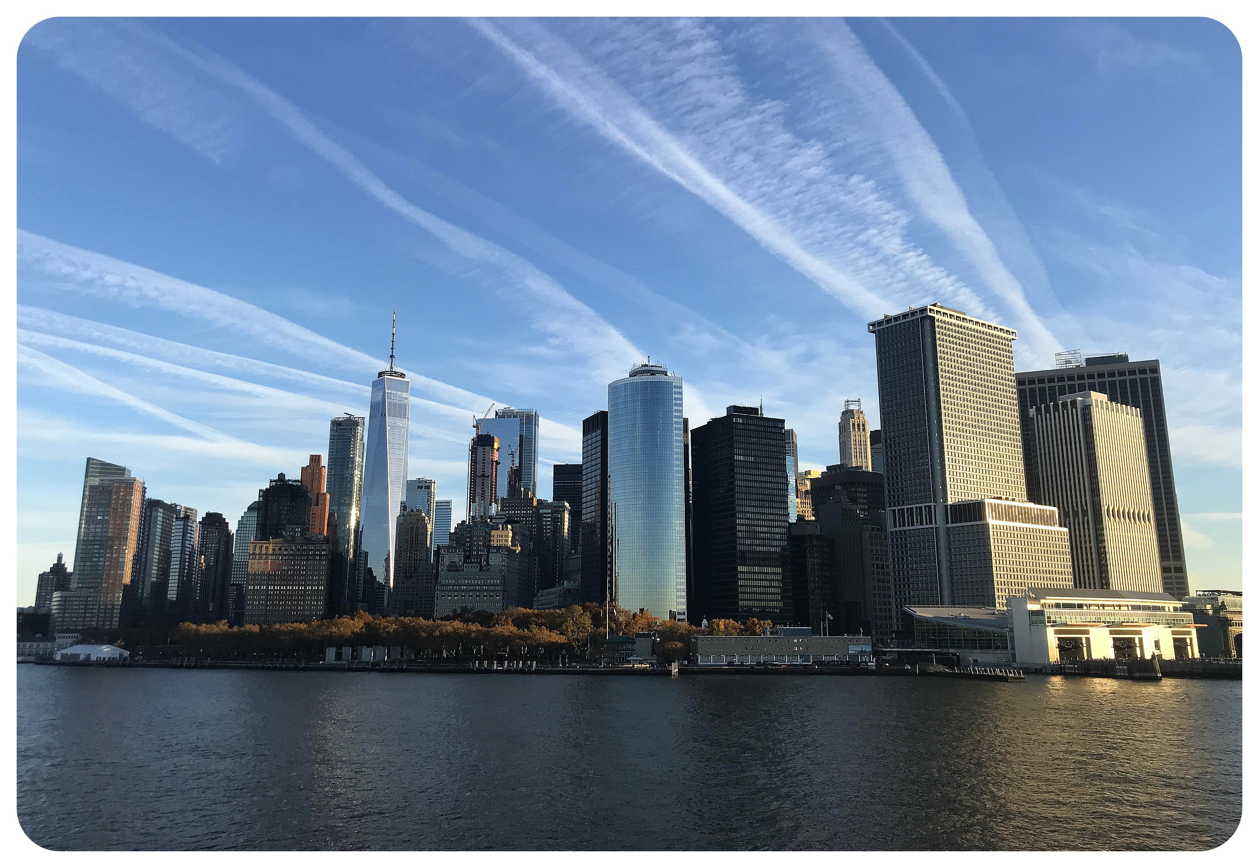 nyc from the staten island ferry marathon morning 2018