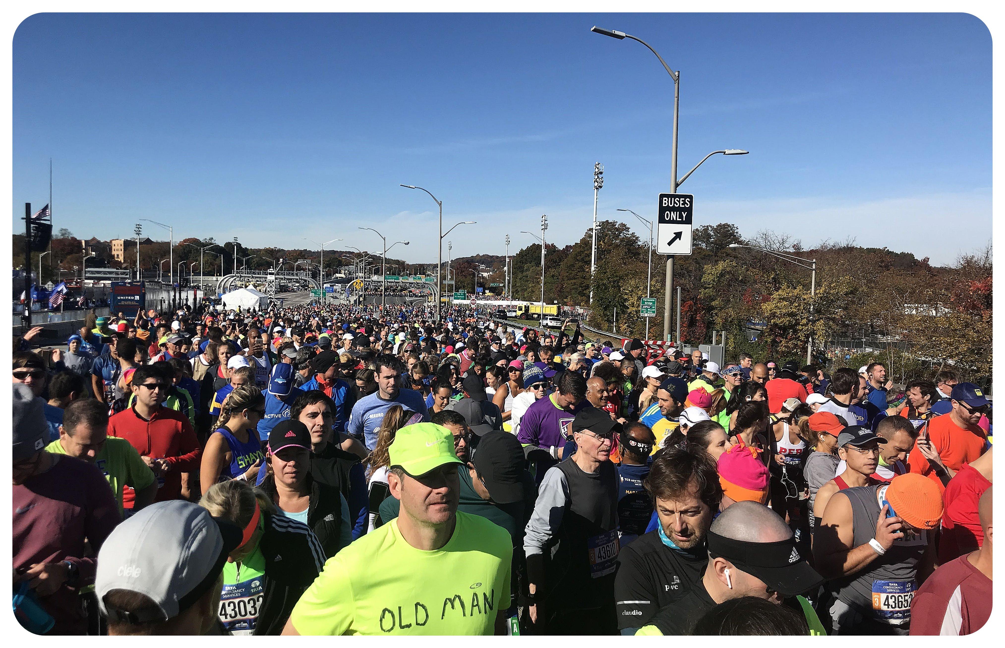 nyc marathon start line