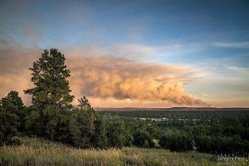 arizona flagstaff smoke sunset wildfire