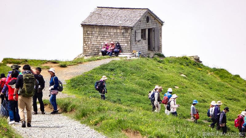 槇有恒氏が1921年アイガー東山稜初登攀に感謝して寄贈した山小屋(移築後)