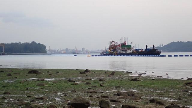 Coastal works off Pasir Ris Park