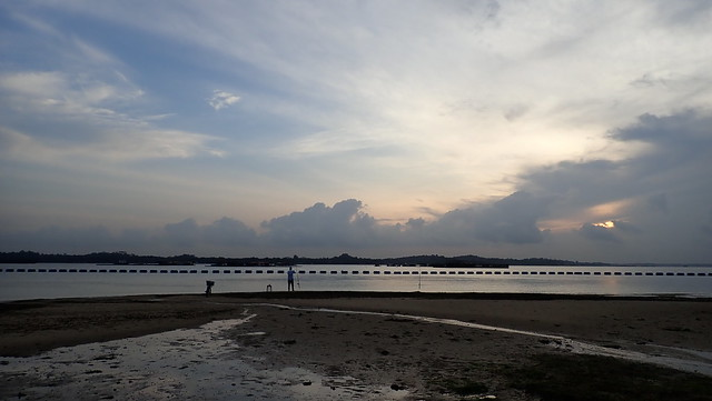 Fishing on Pasir Ris shore
