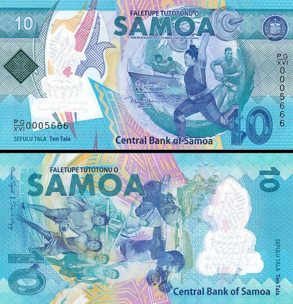 10 Tala Samoa 2019, polymer