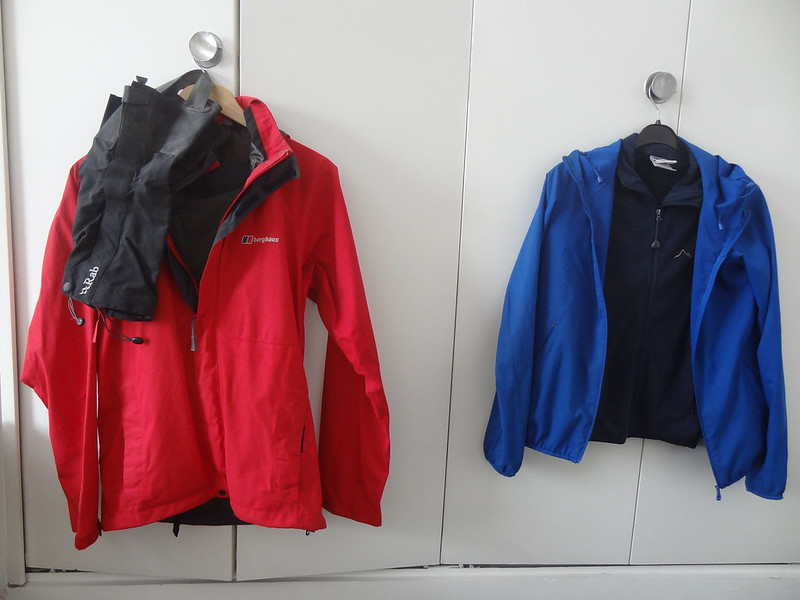 Picos packing: Waterproofs and MK fleece