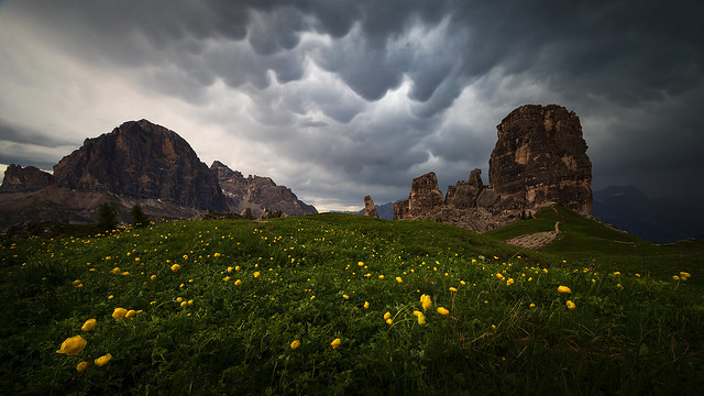 Storm in the Dolomites