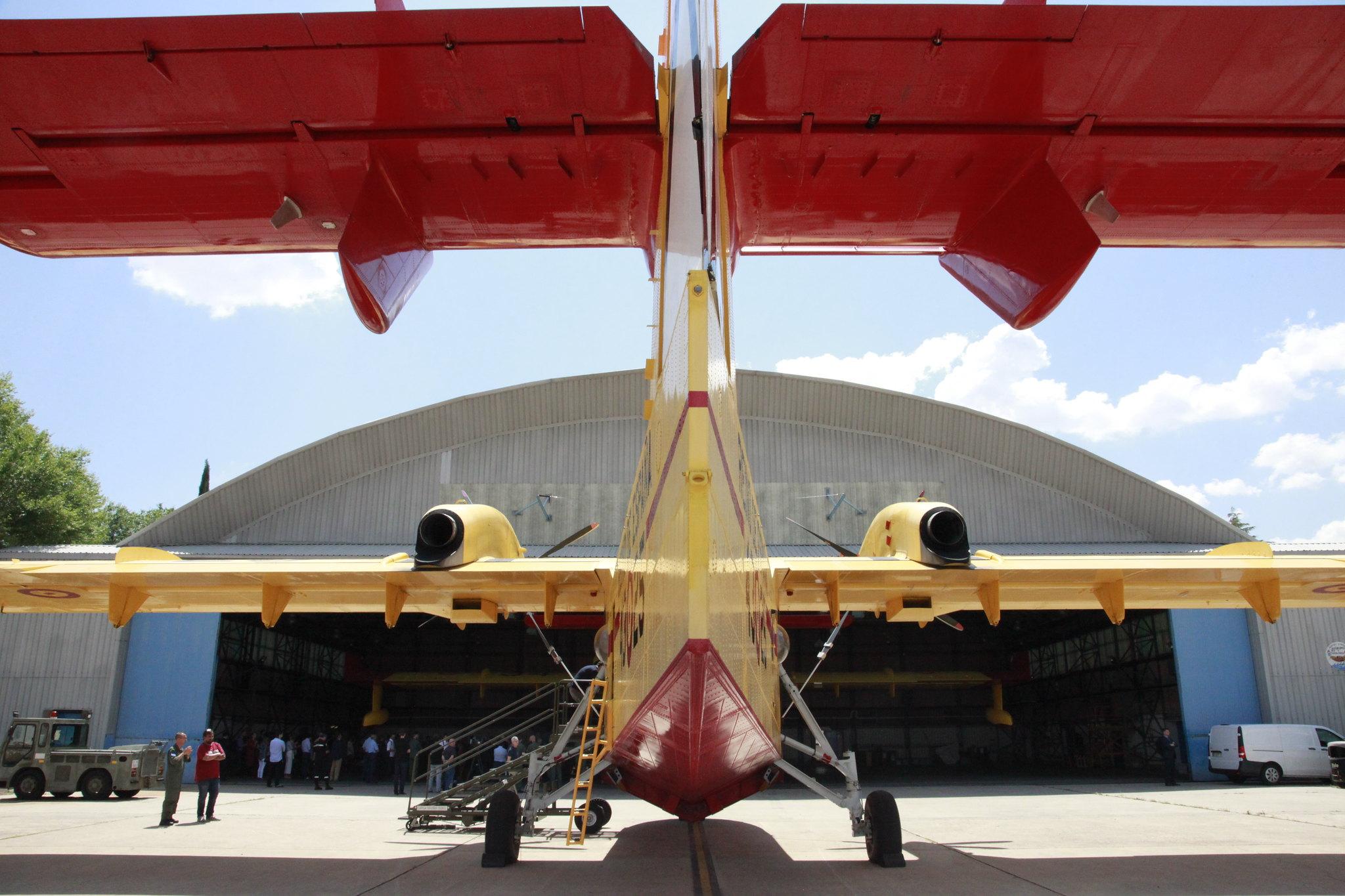 Canadair del 43 Grupo del Ejército del Aire