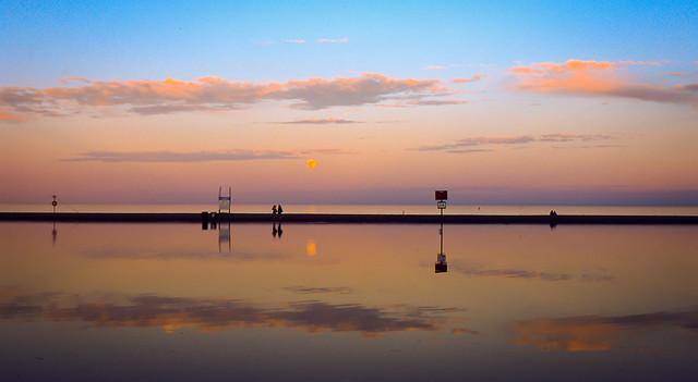 Golden sunset, Woodbine Beach