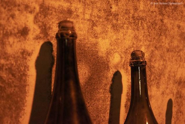 Samppanjapulloja Taittingerin kellareissa
