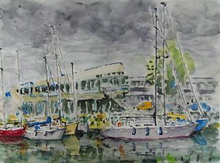 Devant la capitainerie de Lorient