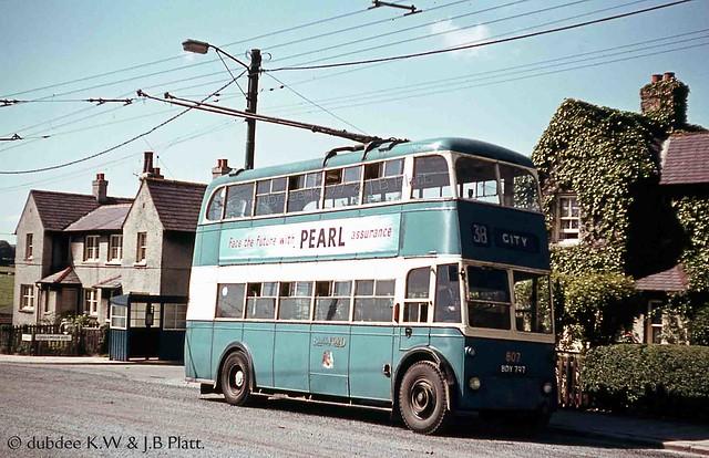 July 1962 BDY797 Sunbeam W at Scholemoor Avenue  Terminus