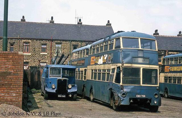 October 1964 EKU543 and EKU750 at Thornbury Works.