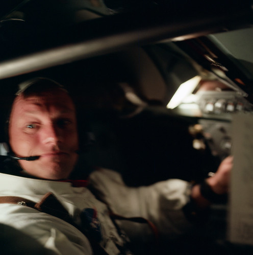 Neil Armstrong, a little over an hour following Apollo 11 liftoff