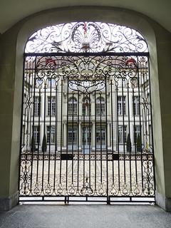 reja Palacio Erlacherhof sede del presidente de Berna calle Junkerngasse Berna Suiza