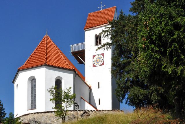 Juli 2019 ... Auerberg mit St.-Georg-Kirche ... Panoramablick ... Fotos: Brigitte Stolle