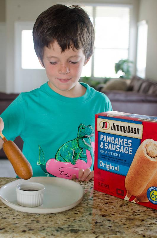 Jimmy Dean Pancakes on a Stick
