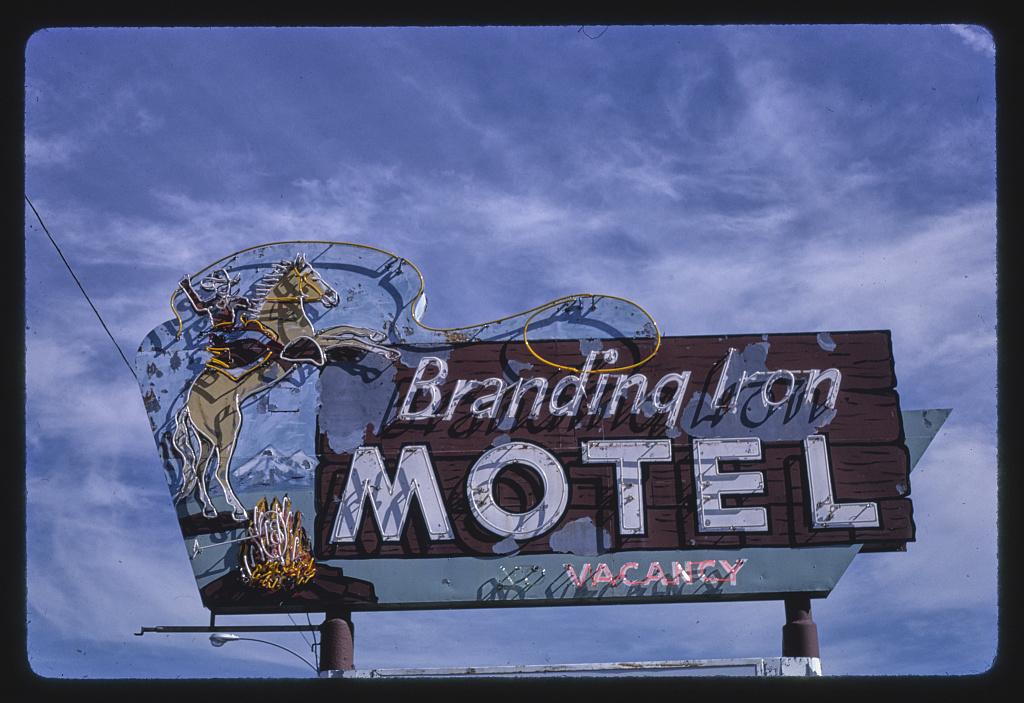 Branding Iron Motel sign, B-40 (Route 66), Flagstaff, Arizona (LOC)