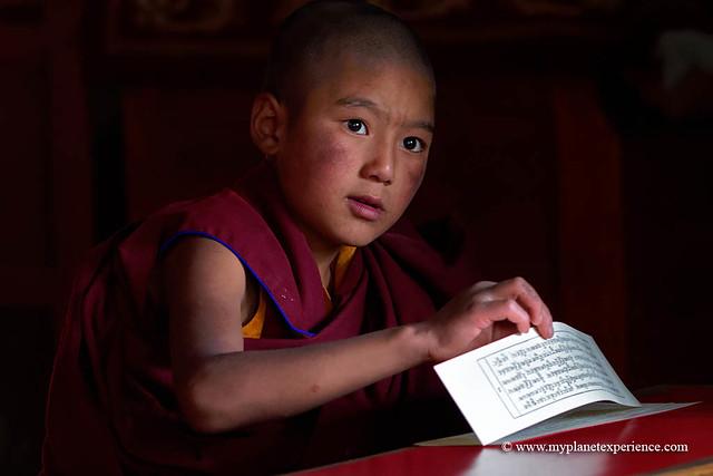 Young buddhist novice