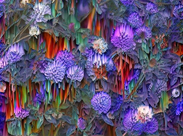 Deep Dream clover flowers