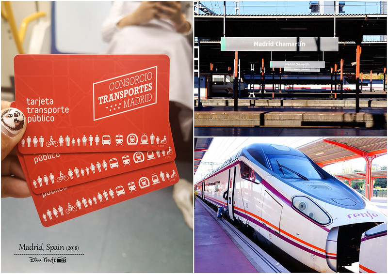 2018 Spain Madrid Metro Card, Chamartin & Renfe High-Speed Train