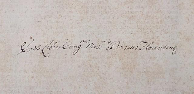 Bryn Mawr College fM-308 c. 2: Inscription