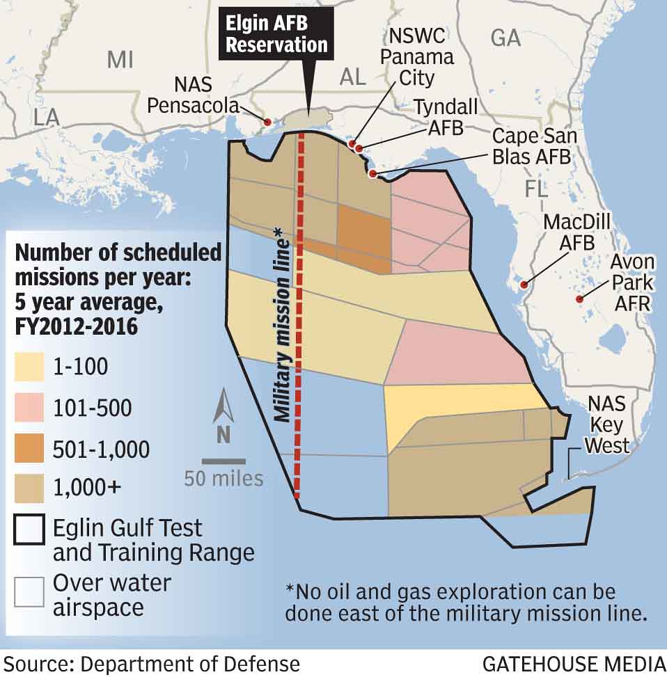 Large quantities of munitions fired, dropped into Gulf Test