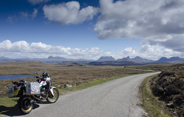 Africa Twin in the Coigach