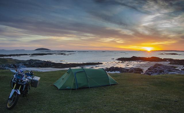 Wild camping on Eriskay