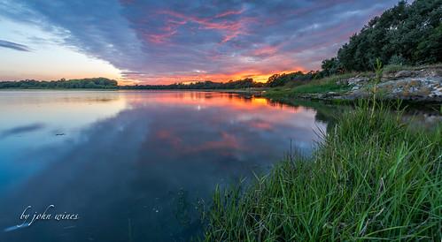 Holes bay sunset