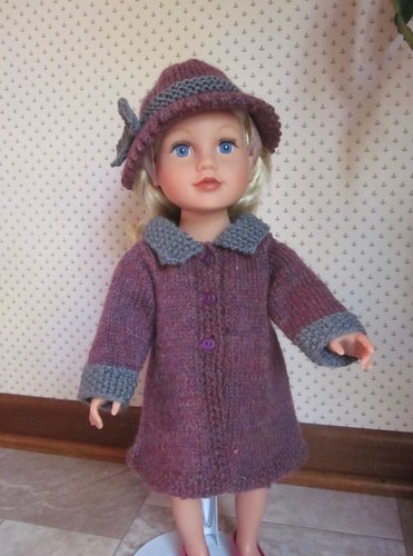 Marie (thecatsmom) knit this sweet Town and Country Coat set by Jacqueline Gibb