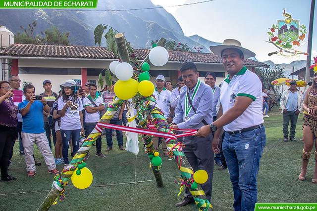 Municipalidad de Echarati lanzo proyecto de roya del café por aniversario