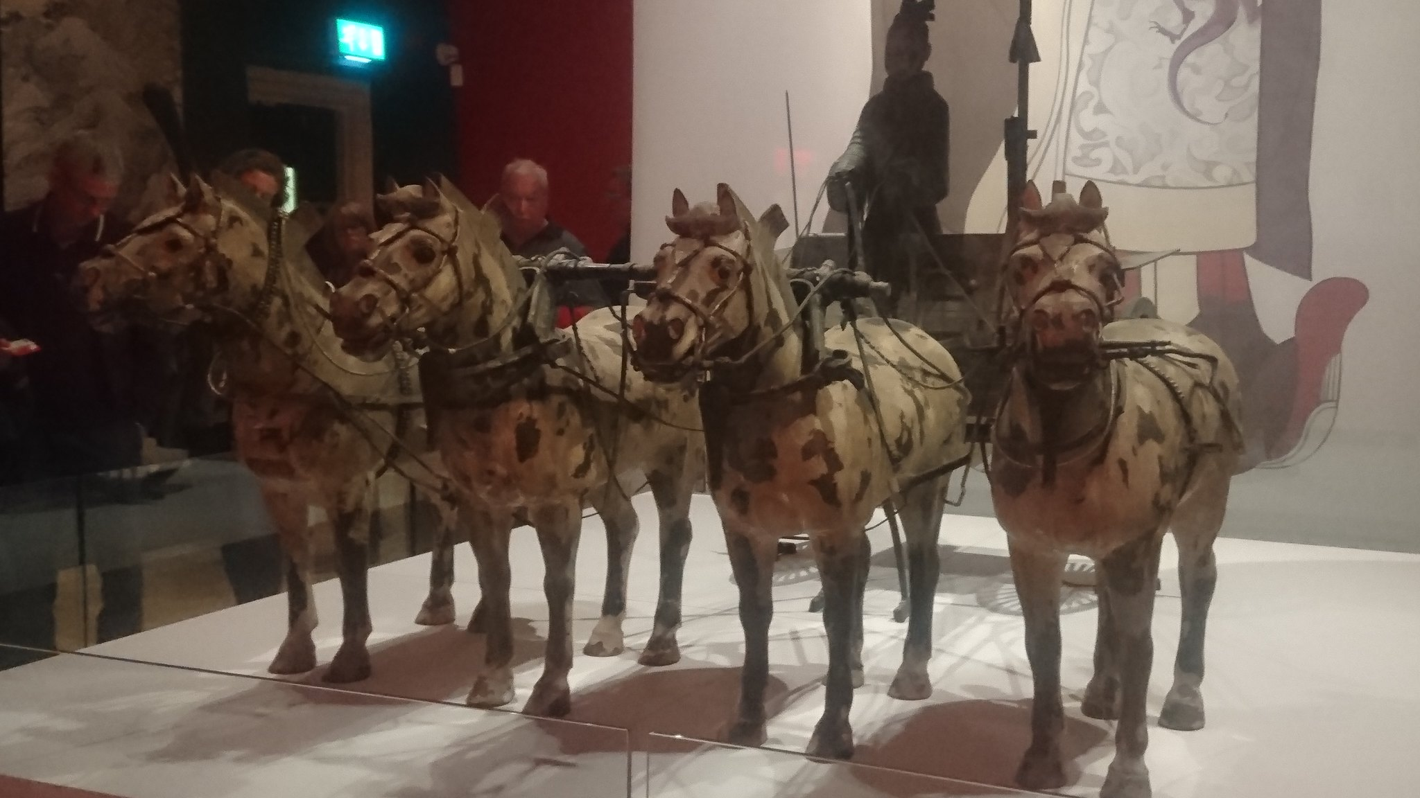 Close up of 4 chariot horses