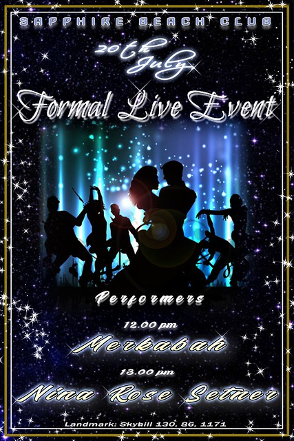FORMAL LIVE EVENT at Sapphire Beach Club / July 20th / Start: 12.00 pm SLT