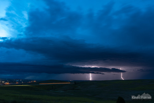 july summer storm stormy thunderstorm sky weather clouds night lightning electric blue twilight strike bolt two double sheridan wyoming tamron2470mmf28 nikond750 dark