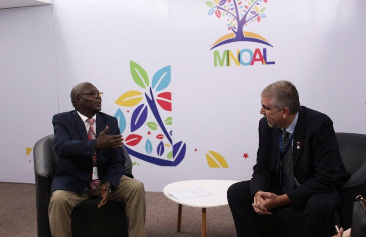 Viceministro Yuri Pimentel recibe delegaciones de diferentes países que visitan Venezuela en el marco de la Mnoal