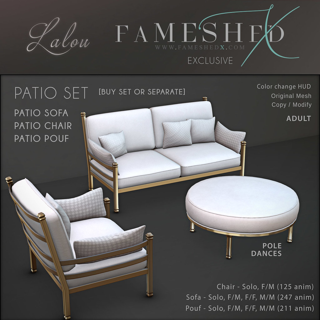 Lalou – Patio set for Fameshed X