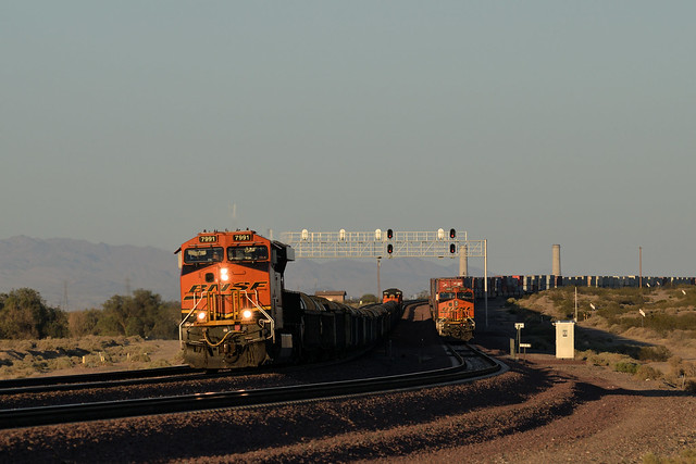 Coils heading west at Daggett, California
