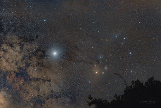 Scorpius from the terrace