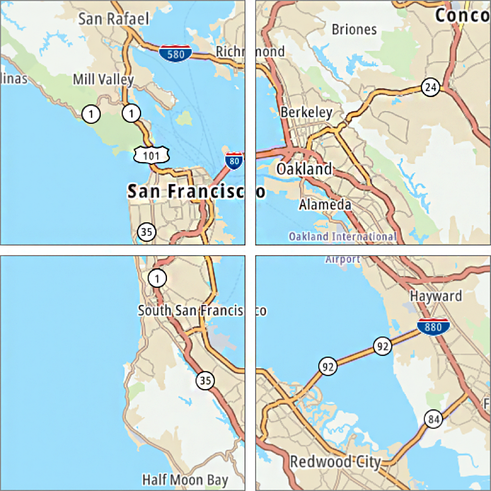 san rafael traffic map Using Traffic Data With Maps And Routes Tomtom Developer Portal