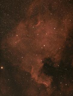 NGC7000 North American nebula in Ha and full spectrum